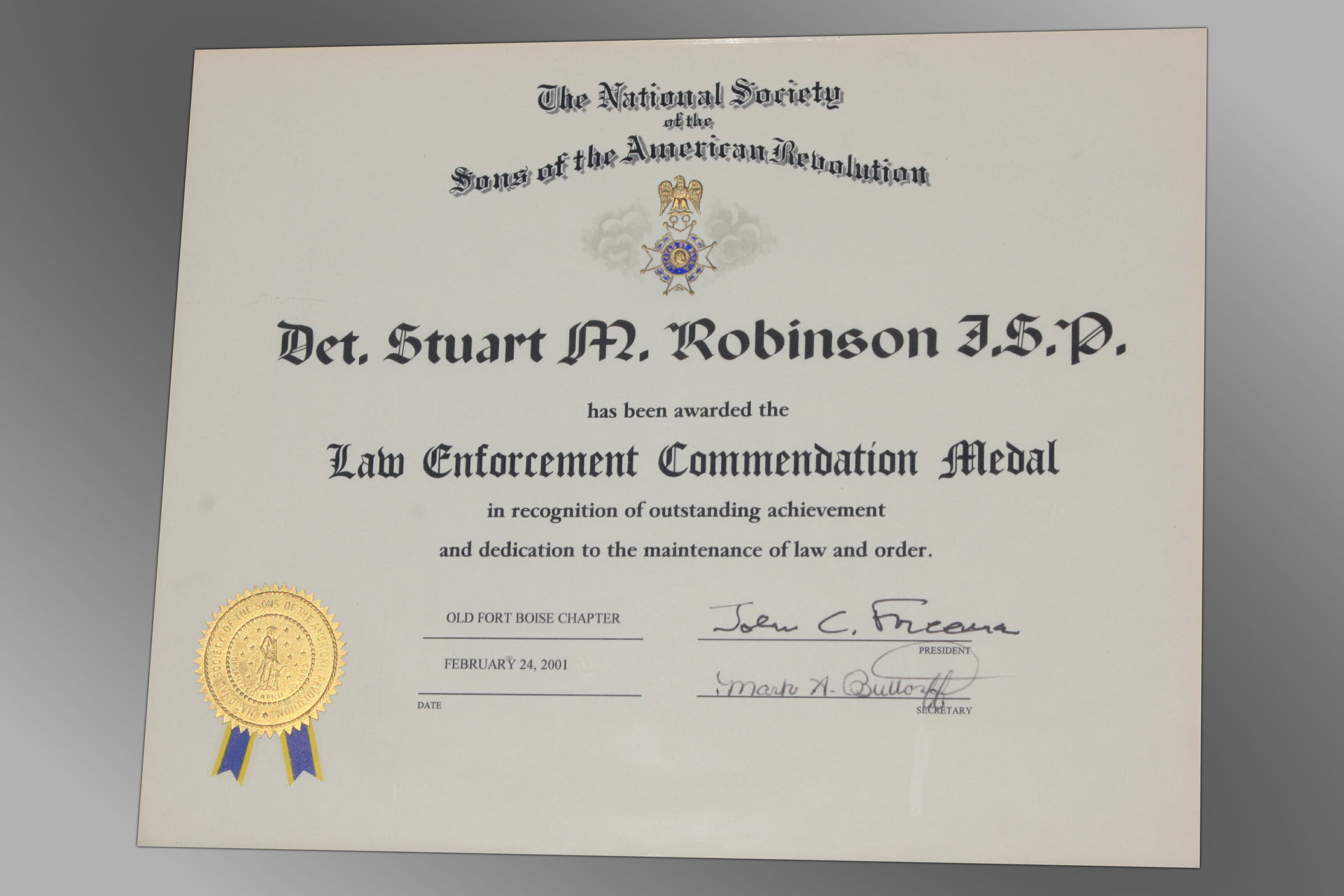 Idahos most experienced private investigator federal investigative service award 1betcityfo Choice Image
